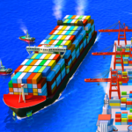 Sea Port Cargo Ship Town Build Tycoon Strategy 1.0.142 MOD Unlimited Money
