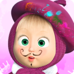 Masha and the Bear Free Coloring Pages for Kids 1.6.9 MOD Unlimited Money